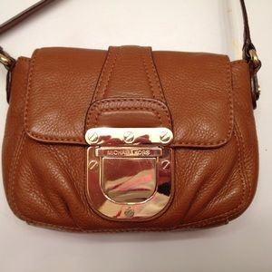 Michael Kors tan crossbody bag